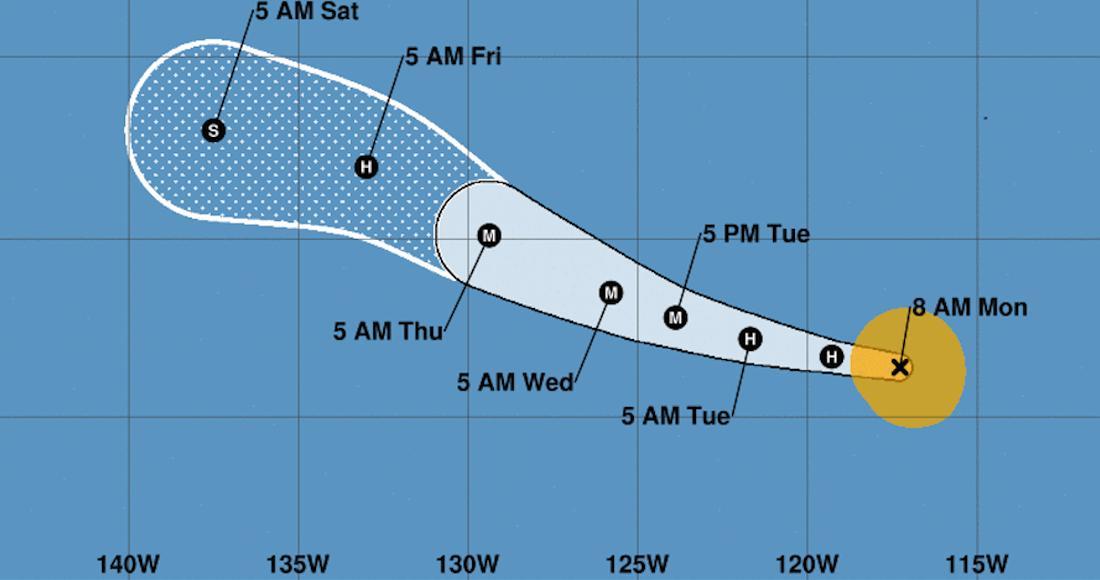 La tormenta tropical Barbara se aleja de las costas del Pacífico mexicano