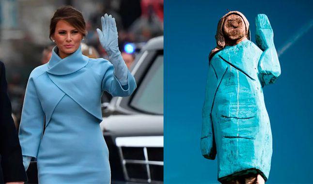 Construyen una estatua de Melania Trump en su país natal, pero resulta ser una vergüenza para los eslovenos
