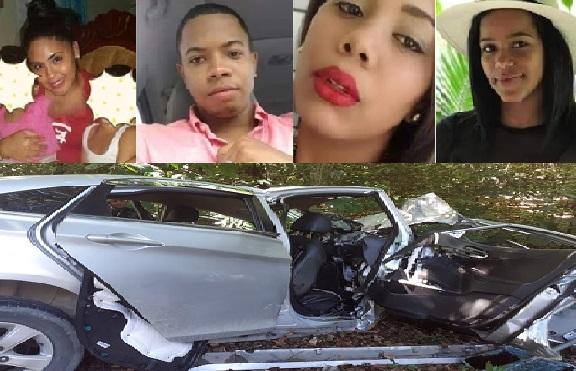 Mueren tres jóvenes al estrellarse contra un árbol el auto en que viajaban
