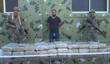 Decomisan 41 pacas de marihuana dentro de camión en Dajabón