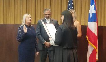 Juramentan a Wanda Vázquez como nueva gobernadora de Puerto Rico