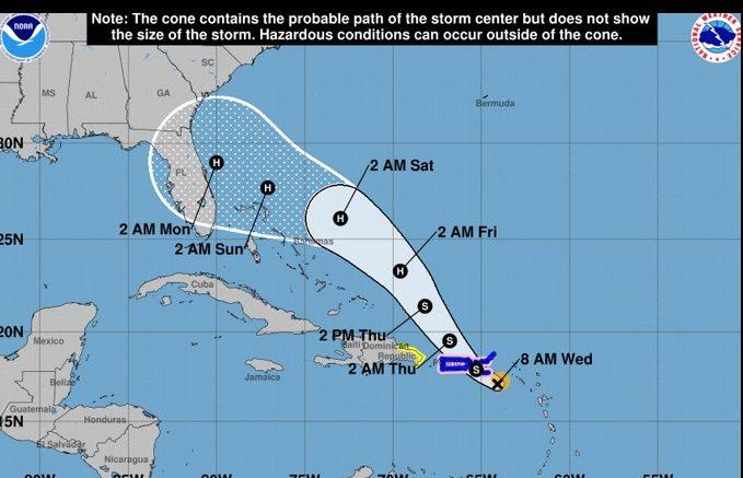 Habrá lluvias fuertes, mareas anormales y vientos tormentosos para RD; Dorian próximo a Puerto Rico