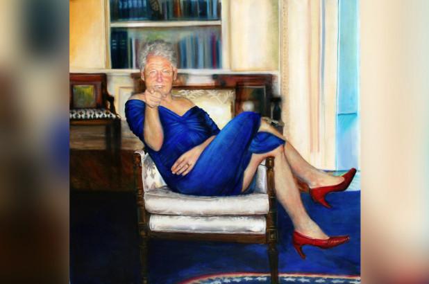 Cuadro de Clinton en vestido de Mónica Lewinsky llama la atención en casa de Jeffrey Epstein