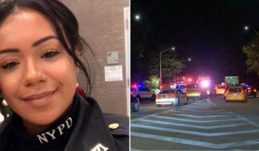 Policías de origen dominicanos mueren calcinados en NY al incendiarse el carro en que viajaban