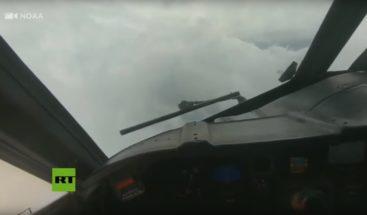Primeras imágenes del huracán Dorian desde un avión cazatormentas