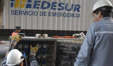 Edesur tiene unos 20 circuitos afectados, según administrador