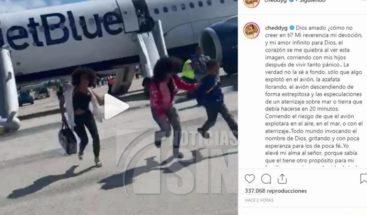 Avión en que viajaba Cheddy García y sus hijos aterriza de emergencia en Bahamas