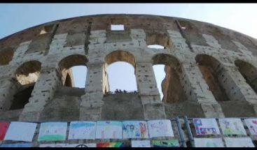 Niños de 126 países exponen sus 5.000 dibujos por la paz en el Coliseo