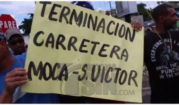 Organizaciones populares y choferiles piden reconstrucción de carretera Moca- Gaspar Hernández