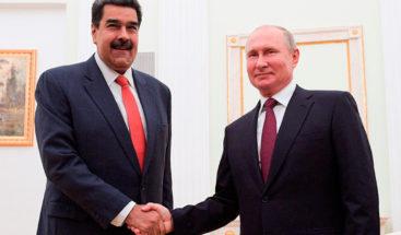 Putin reitera a Maduro su apoyo a