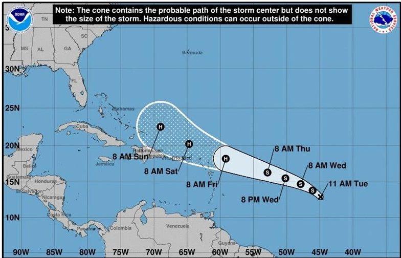 Décima depresión tropical del Atlántico amenaza llegar a Bahamas como huracán
