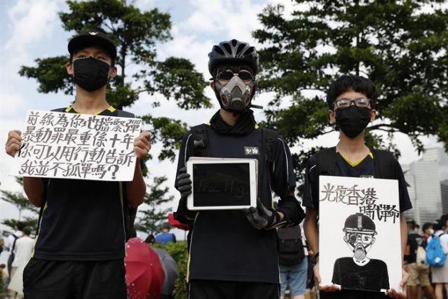 Joshua Wong llama a taiwaneses a una movilización masiva en apoyo a Hong Kong