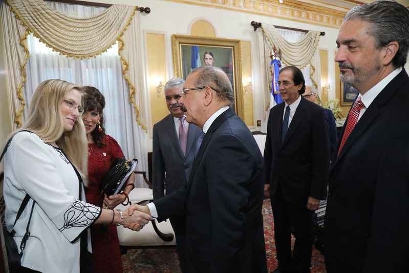 Presidente Medina recibe a subsecretaria Departamento Estado de EEUU, Cindy Kierscht