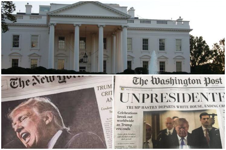 Trump cancela suscripciones de la Casa Blanca al The New York Times y The Washington Post
