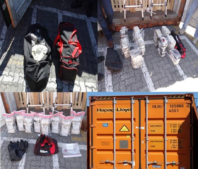Incautan 48 paquetes de cocaína en un contenedor en el Puerto Multimodal Caucedo