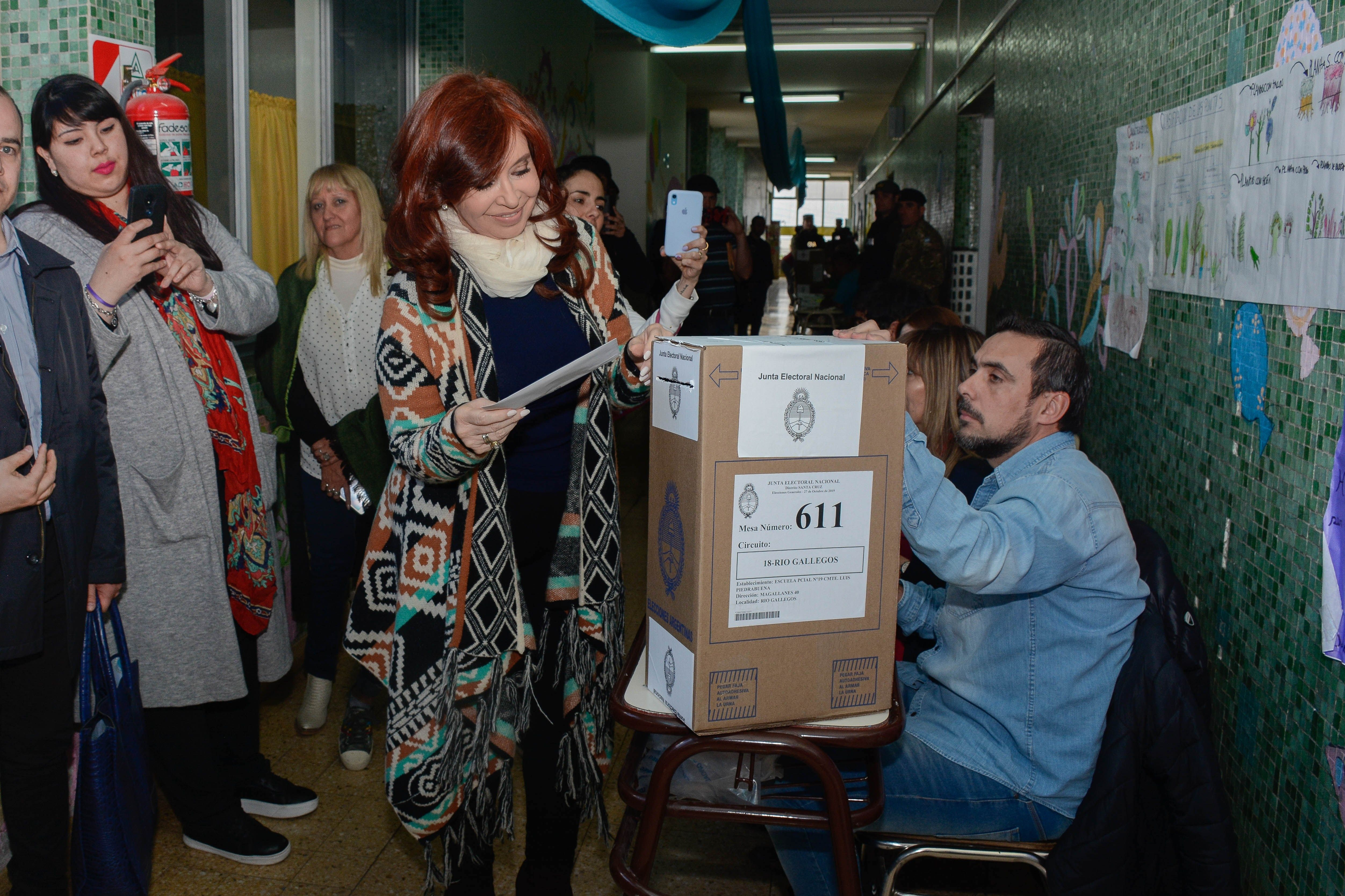 Cristina Fernández celebra la