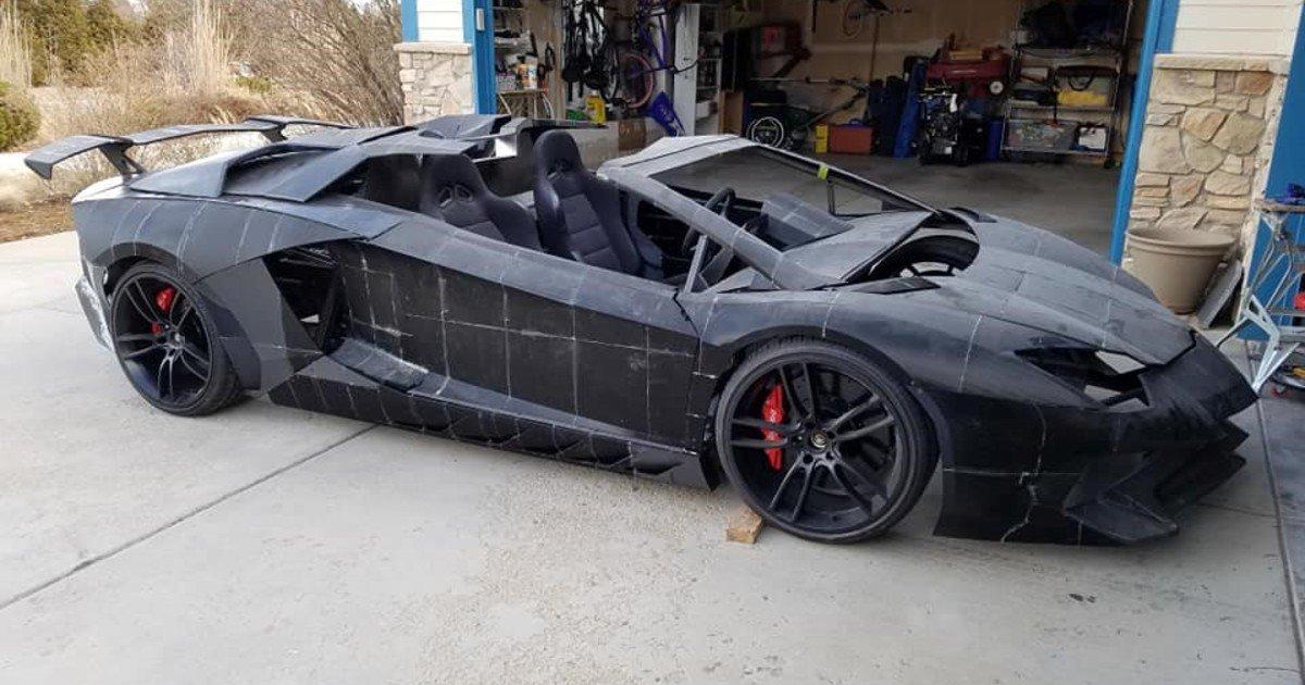 Padre e hijo construyen un Lamborghini con una impresora 3D