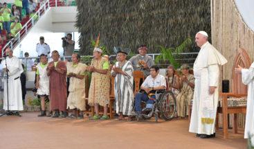 Ritos y cantos del Amazonas ante el Papa en celebración del Sínodo