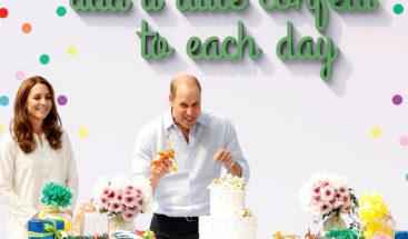 Guillermo y Catalina cantan cumpleaños feliz y juegan al críquet en Pakistán