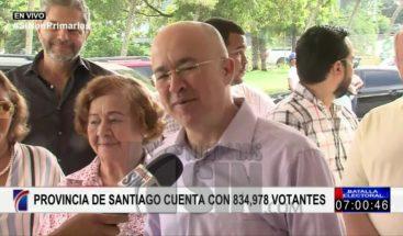 Domínguez Brito llama a ciudadanía a participar con respeto en proceso de primarias