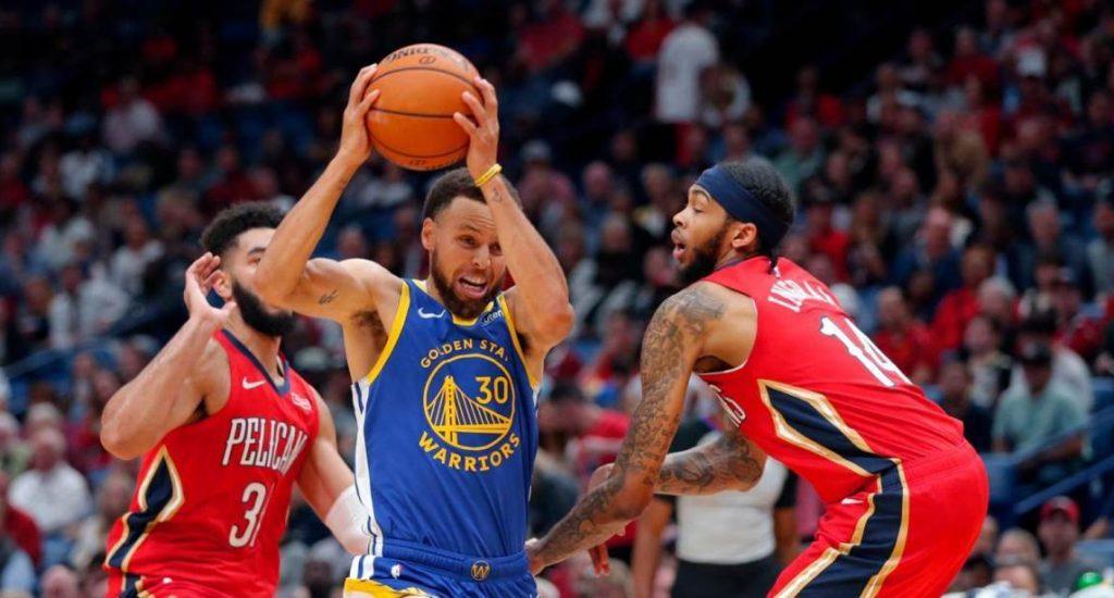 123-134. StephenCurry da a Warriors primer triunfo ante Pelicans