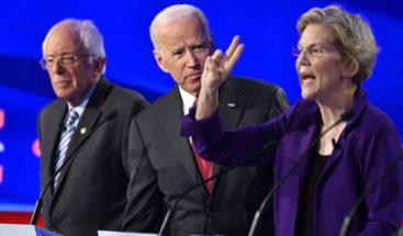 Los demócratas tratan a Warren como favorita con sus ataques en el debate