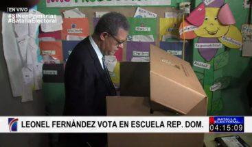 Leonel Fernández confiado en que ganará primarias en el PLD