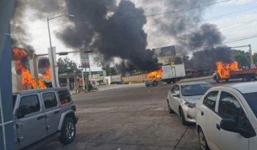 Violencia en México tras presunta captura de hijo del Chapo