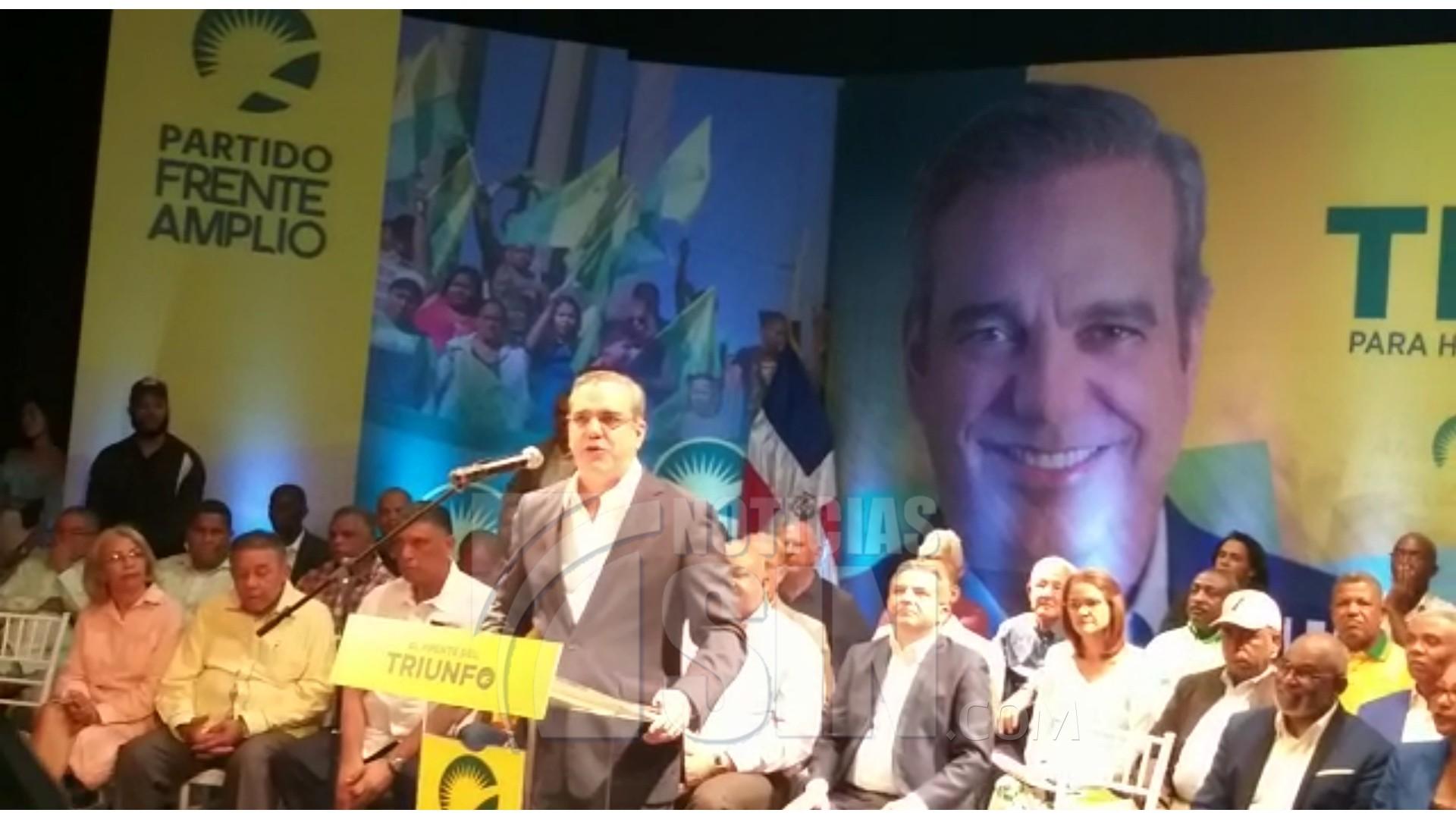 Frente Amplio proclama a Abinader como su candidato presidencial