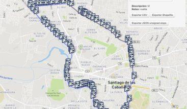 Santiago, primera ciudad del Caribe con mapa de información sobre transporte público