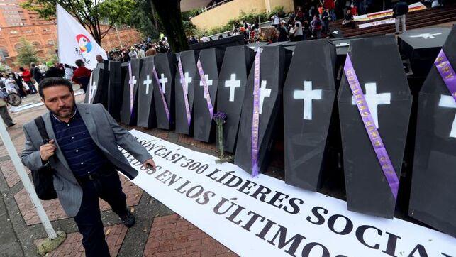 Asesinan a59 defensoresde DD.HH.en Colombia
