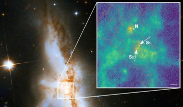 Detectan 3 agujeros negros supermasivos en galaxias que se están fusionando