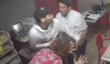 Cumple prisión preventiva en Najayo hombre que aparece en video golpeando a pareja