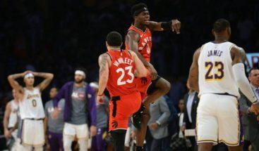 Raptors sorprenden a Lakers con una victoria; Bucks, Nuggets y Sixers, triunfos trabajados
