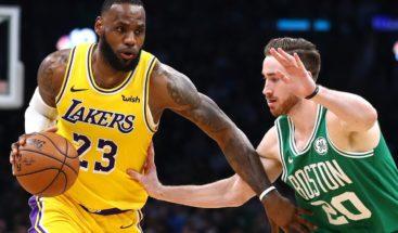 Celtics y Lakers imponen sus condiciones; Rockets y Raptors se consolidan