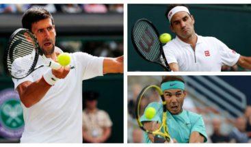 Nadal, Djokovic y Federer componen el podio de honor de la temporada 2019
