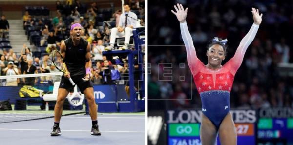 Rafael Nadal y Simone Biles, Campeones de Campeones en 2019 para