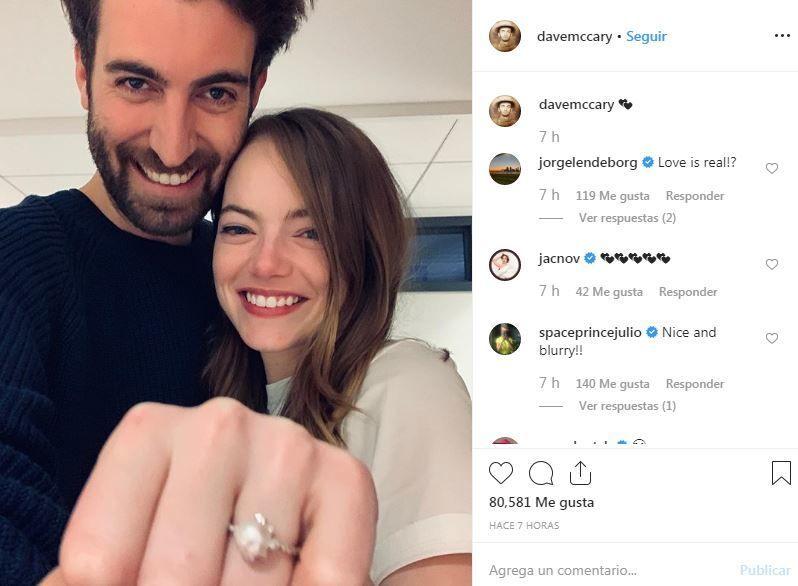 Emma Stone se casará con el director y guionista Dave McCary