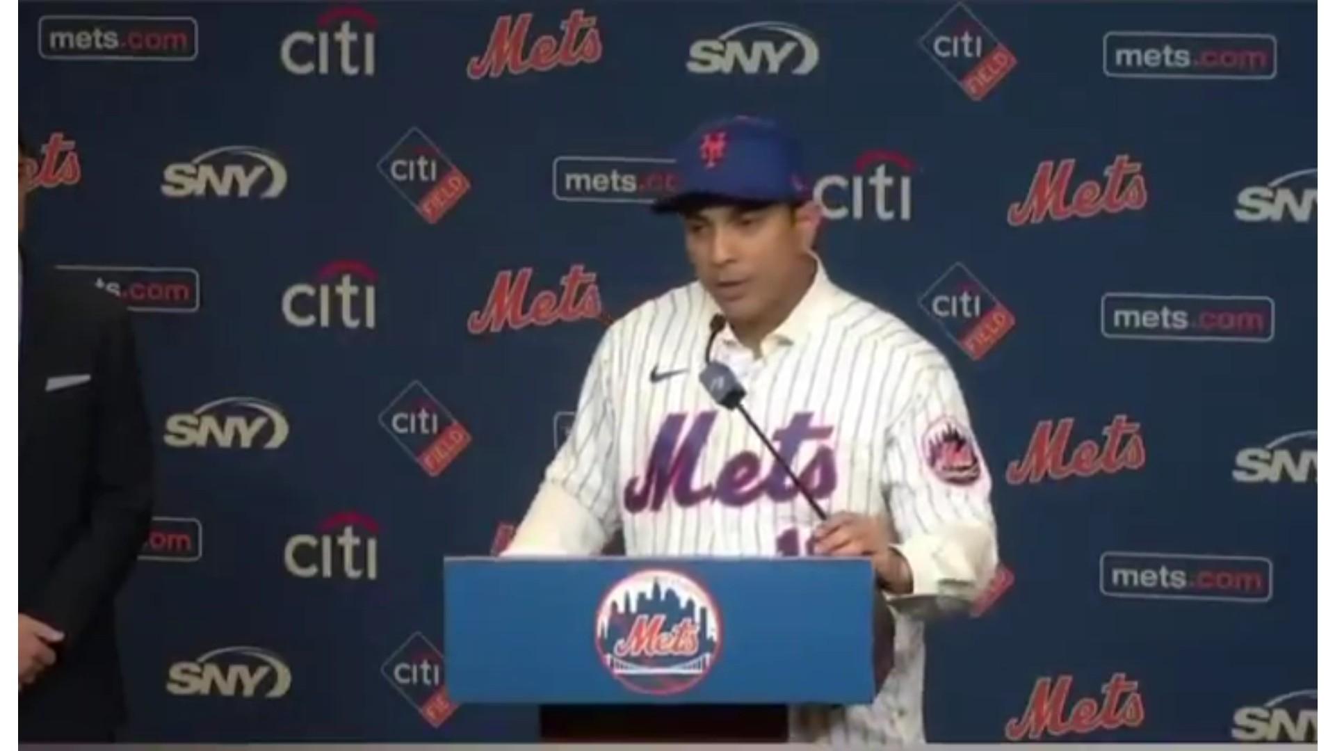 Los New York Mets presentan oficialmente a Luis Rojas como dirigente