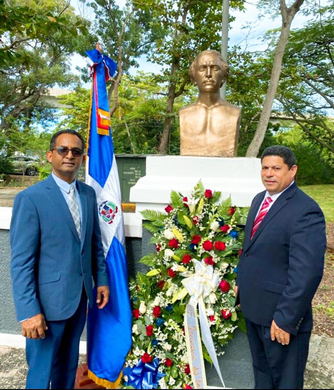 Conmemoran en Puerto Rico el 207 aniversario del natalicio de Juan Pablo Duarte