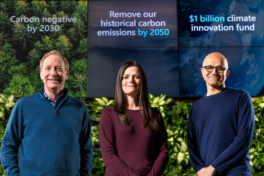 Microsoft anuncia que eliminará más carbono del que emite para 2030