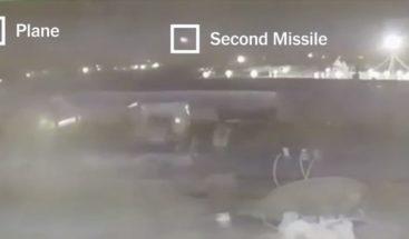 Un video del NYT muestra cómo los misiles iraníes impactan al avión ucraniano