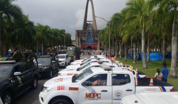 Colocan carpas de emergencias y unidades de patrullas en el trayecto y todo el entorno de la Basílica por Día de la Altagracia