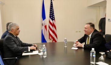 Canciller Miguel Vargas sostiene reunión bilateral con Michael Pompeo