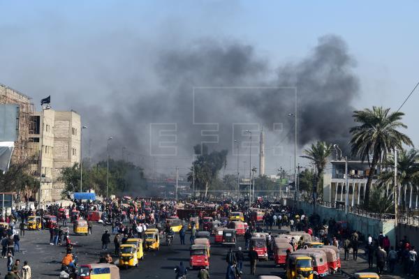 Impactan tres cohetes cerca de la Embajada estadounidense en Bagdad