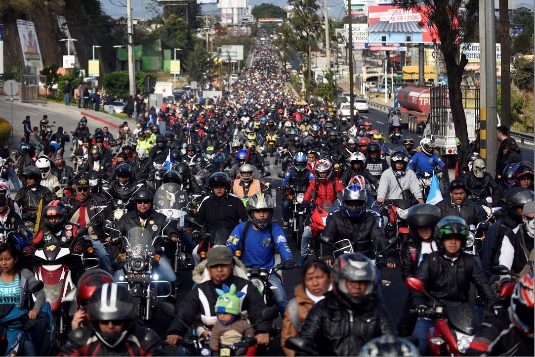 Inicia la peregrinación de motociclistas más grande del mundo en Guatemala