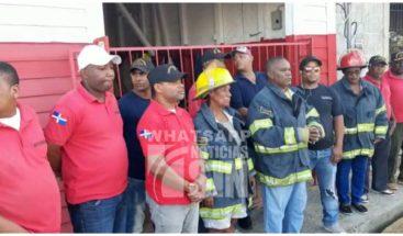 Bomberos del municipio Luperón en Puerto Plata cierran estación