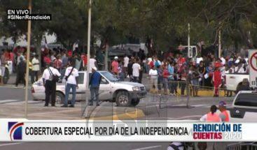 Se manifiestan en apoyo a Medina en alrededores del Congreso
