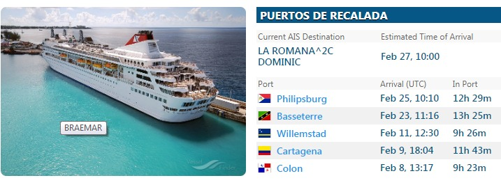 SP confirma hay siete personas con síntomas asociados al coronavirus en buque que espera atracar en La Romana