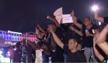 Manifestantes vuelven a exigir renuncia de miembros de la Junta Central Electoral